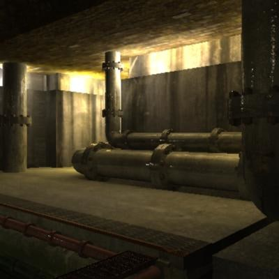 sewer bunker 3d obj