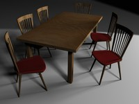 obj table chairs