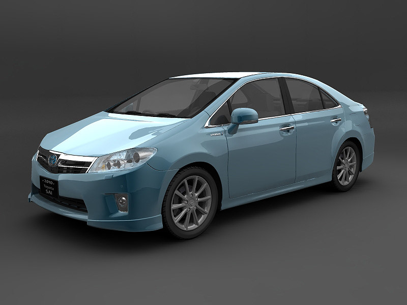 3d model of toyota sai hybrid