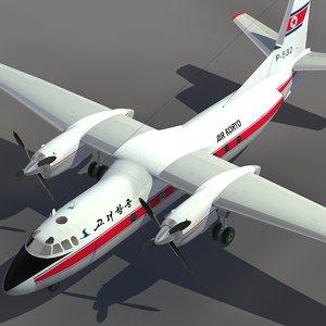 3ds max aircraft an-24 transport air