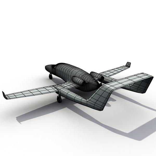 adam aircraft a700 3d model