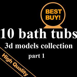 10 bath 3d max