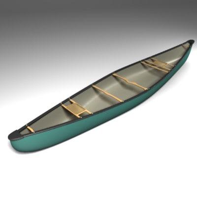 3d model bell canoe