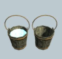 3d bucket water model