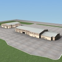 military building 3d model