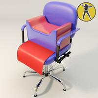 3d salon kids chair hair