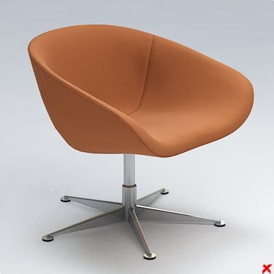 armchair swivel chair 3d 3ds