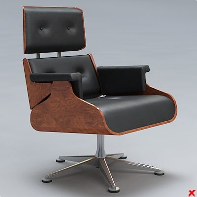 3ds armchair swivel chair
