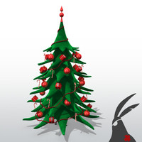 3d model stylized christmas tree