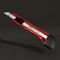 office knife 3d obj