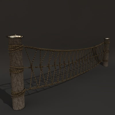 3d model rope fence