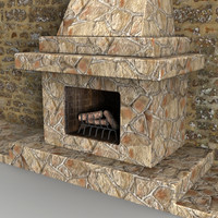 3d fireplace woods christmas model
