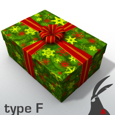 gift box types christmas presents fbx