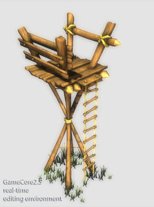 3d guard tower model