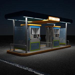 station hydrogen 3d model
