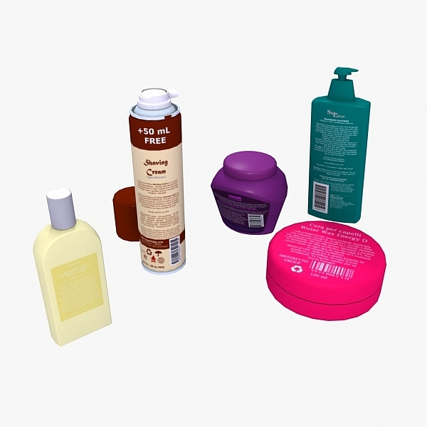 creams lotions set 3d 3ds