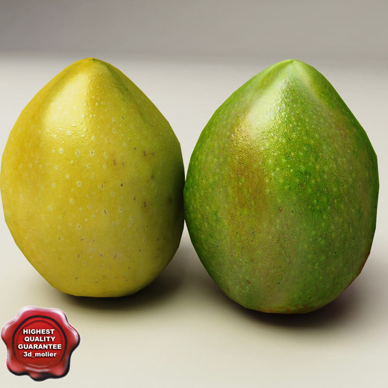 mangos modelled obj