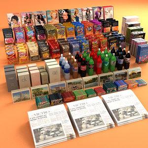 3d model merchandise items