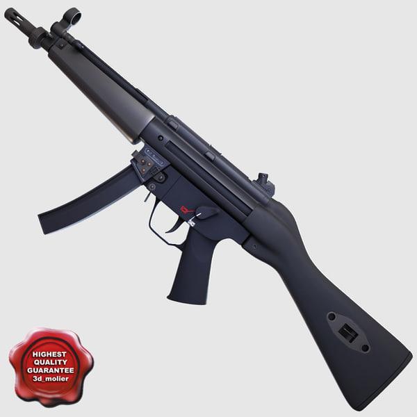 3d realistic submachine gun sf