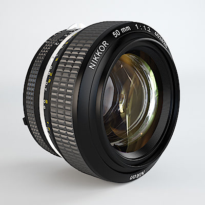 3ds max nikon lens f 1