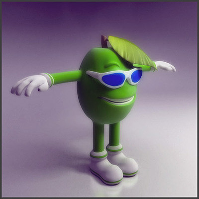 olive character 3d max