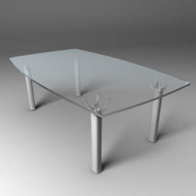lucine glass desk max