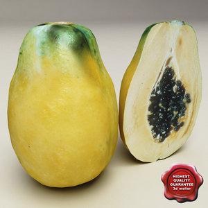 3ds papaya modelled