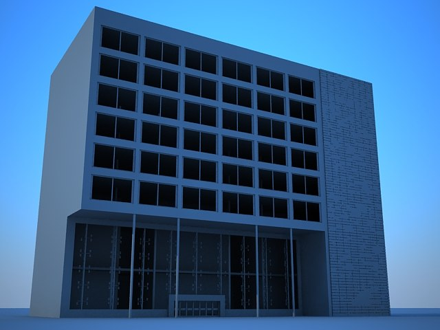 commercial residential building 3d 3ds