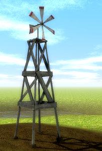 old windmill scenes 3d model