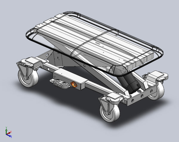 3d model veterinary table solidworks