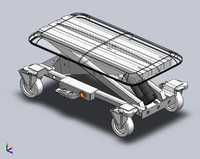 Veterinary Adjustable Table Cart SolidWorks