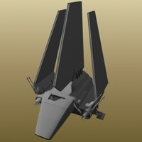 star wars lambda shuttle 3d model