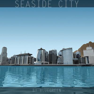 definition city sea 3d 3ds