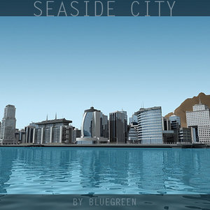 definition city sea 3d 3ds