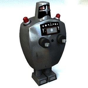 servo robot doctor wheel 3d model