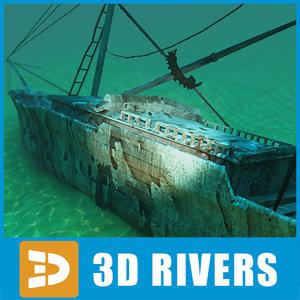 sunken ship 3d model