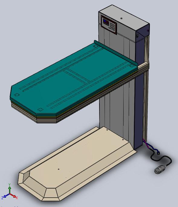 robotic veterinary table 3d model