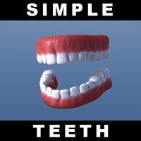SIMPLE TEETH  (lwo,lws,obj,emdl)