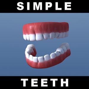free simple teeth emdl 3d model