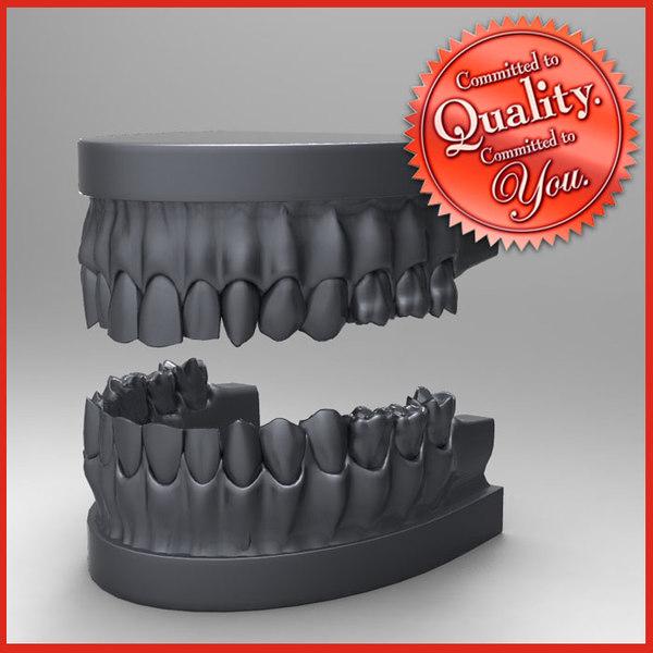 3ds human teeth set