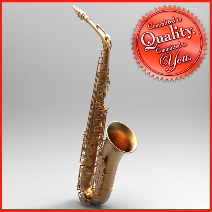 saxophone saxo obj