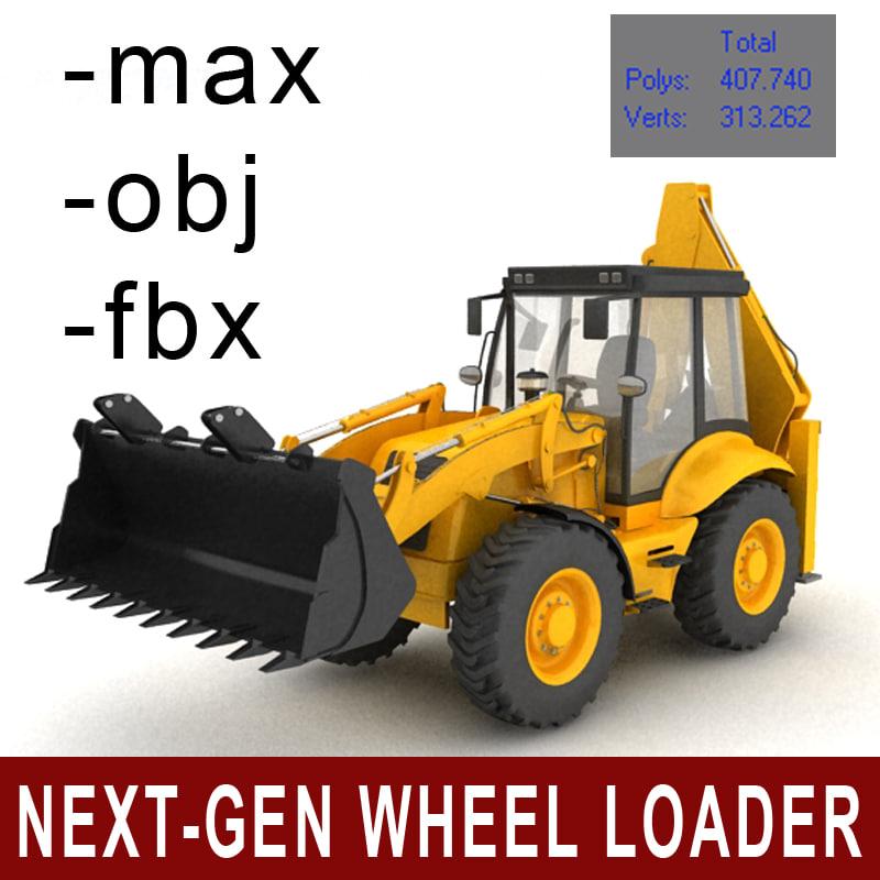 3dsmax wheel loader