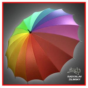 umbrella rain obj