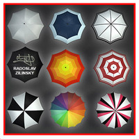UMBRELLA rain COLLECTION (high detail)