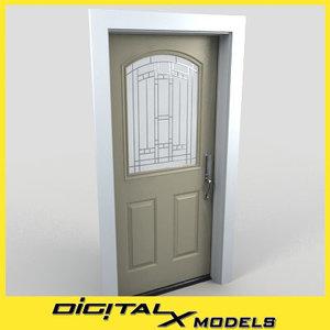 3d model residential entry door 06