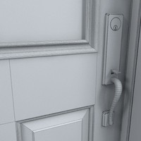 3d model residential entry door 06