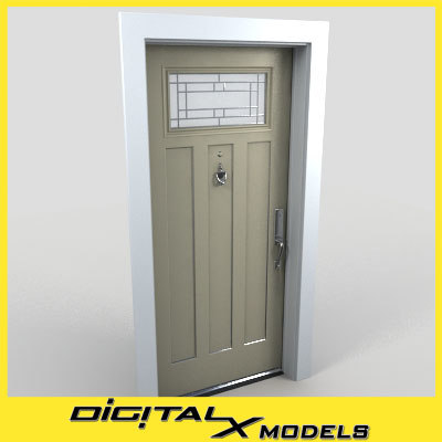 3d model residential entry door 11
