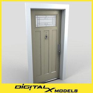 3d model residential entry door 11