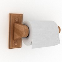 3d toilet paper model