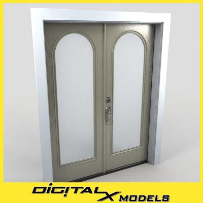 3d residential entry door model
